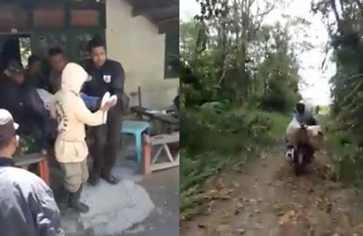 Polisi ini antar jenazah warga pedalaman pakai motor ke rumah duka
