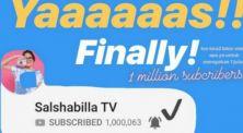 Selamat! Channel Salshabilla TV Berhasil Mencapai Angka 1.000.000 Subscribers
