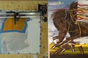Robot pelukis satu-satunya di dunia, karyanya dijual Rp 1,5 miliar