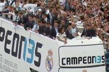 Meriahnya perayaan gelar juara Liga Champions Real Madrid