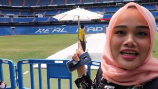 Traveling ke Spanyol, Fatya Biya berkunjung ke Stadion Bernabeu Madrid
