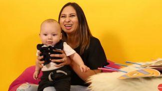 Gemas banget! Emoji Reaction Challenge, Puspa Hoose ajak baby George
