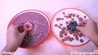 DIY membuat slime foodie choco oreo ala Ria Yaya Riya