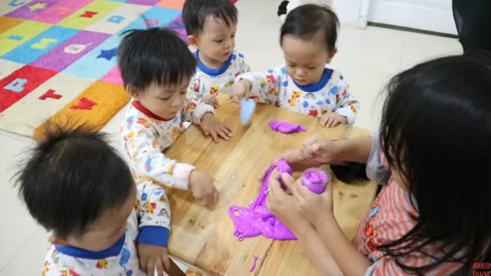 Intip keseruan 'AIUEO's Family' berkreasi membuat slime!