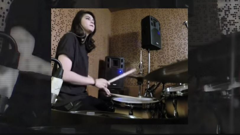 a drum cover. (throwback) © 2018 famous.id