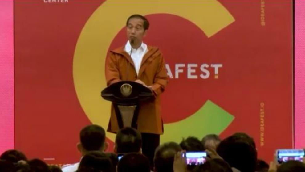 Hits banget! Presiden Jokowi membuka IDEAFEST dengan Parka kekinian
