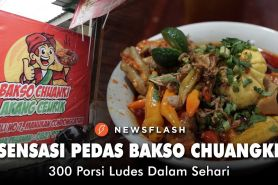Sensasi pedas bakso Chuangki Akang Bandung