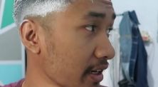 Ekstrem banget! YouTuber ini pakai pomade warna satu kaleng ke rambut