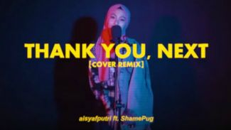 Unik banget! Aisyah Safira Putri bikin cover 'Thank U, Next' versi rap