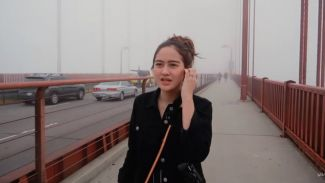Traveling ke San Fransisco, Salshabilla kunjungi 'Golden Gate Bridge'