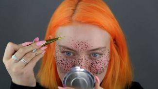 YouTuber ini bikin 'fake freckles' dengan hena, hasilnya mengejutkan!