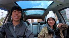 Bikin vlog bareng pacar, Kery Astina coba bernyanyi di roller coaster