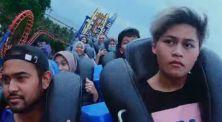 Seru-seruan main wahana ekstrem di Dufan bareng Agung Hapsah