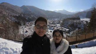 Liburan ke Jepang, Lizzie Parra mengunjungi desa unik 'Shirakawago'