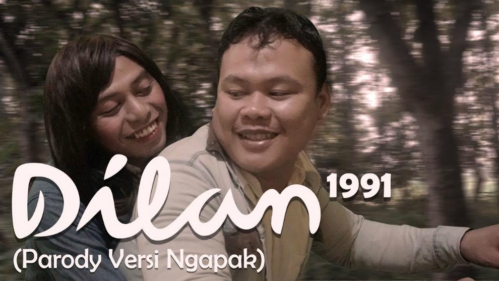 Ancur! Video parodi  kocak Dilan 1991 versi 'ngapak' ala Koplak Story