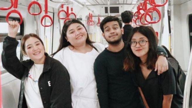 TJ Influencer Day, keseruan para kreator mencoba kereta LRT Jakarta