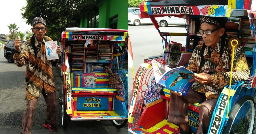 Becak Pustaka Mbah Sutopo, koleksi ratusan buku untuk penumpang