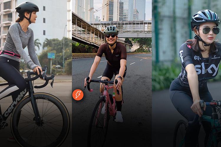 Mengintip jenis sepeda yang dipakai 5 seleb cantik Indonesia